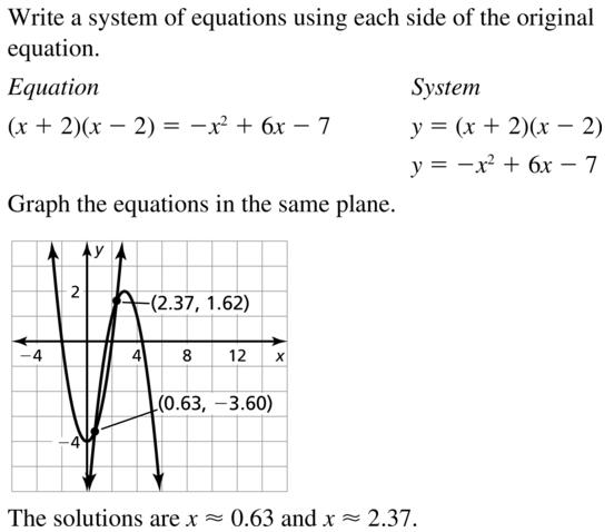 Big Ideas Math Answers Algebra 2 Chapter 3 Quadratic Equations and Complex Numbers 3.5 a 45