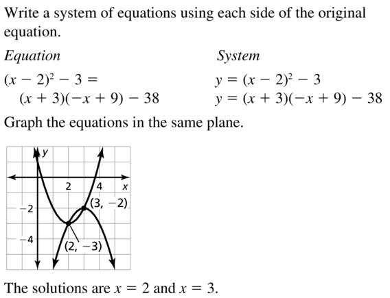 Big Ideas Math Answers Algebra 2 Chapter 3 Quadratic Equations and Complex Numbers 3.5 a 47