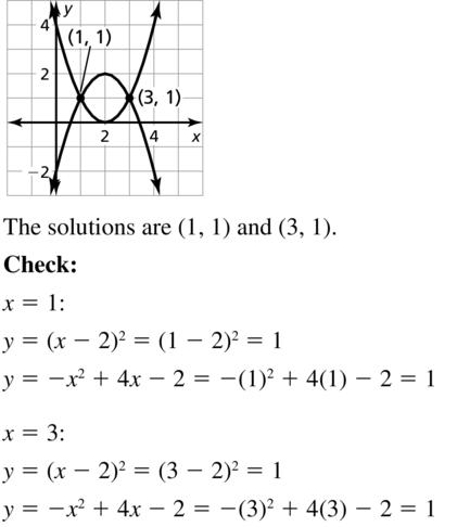 Big Ideas Math Answers Algebra 2 Chapter 3 Quadratic Equations and Complex Numbers 3.5 a 9