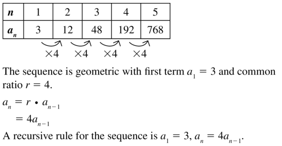 Big Ideas Math Answers Algebra 2 Chapter 8 Sequences and Series 8.5 a 13