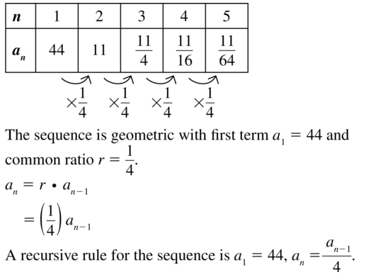Big Ideas Math Answers Algebra 2 Chapter 8 Sequences and Series 8.5 a 15