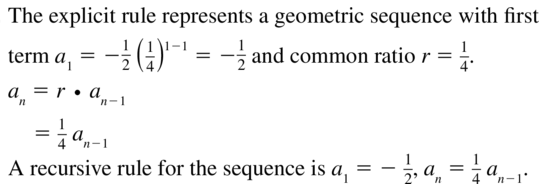 Big Ideas Math Answers Algebra 2 Chapter 8 Sequences and Series 8.5 a 37