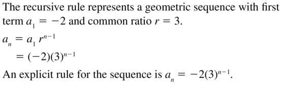 Big Ideas Math Answers Algebra 2 Chapter 8 Sequences and Series 8.5 a 43
