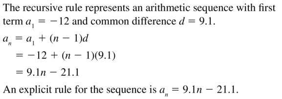 Big Ideas Math Answers Algebra 2 Chapter 8 Sequences and Series 8.5 a 45