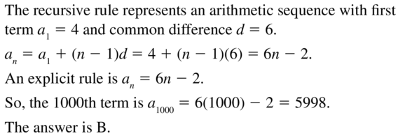 Big Ideas Math Answers Algebra 2 Chapter 8 Sequences and Series 8.5 a 51