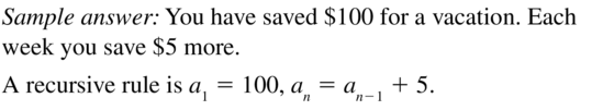 Big Ideas Math Answers Algebra 2 Chapter 8 Sequences and Series 8.5 a 55