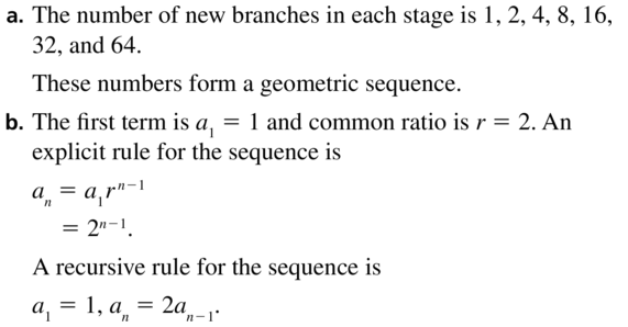Big Ideas Math Answers Algebra 2 Chapter 8 Sequences and Series 8.5 a 63