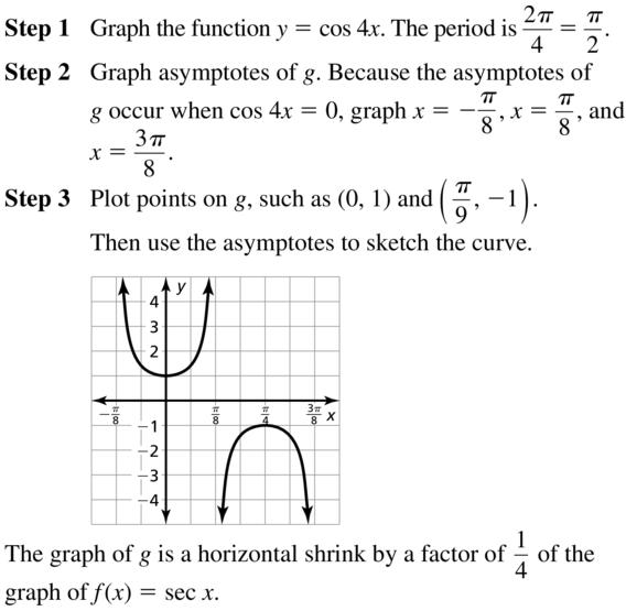 Big Ideas Math Answers Algebra 2 Chapter 9 Trigonometric Ratios and Functions 9.5 a 19