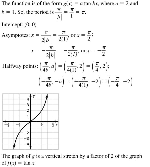 Big Ideas Math Answers Algebra 2 Chapter 9 Trigonometric Ratios and Functions 9.5 a 5