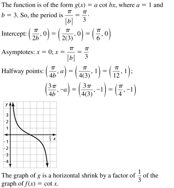 Big Ideas Math Answers Algebra 2 Chapter 9 Trigonometric Ratios and Functions 9.5 a 7
