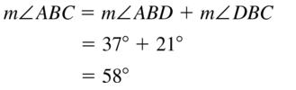 Big Ideas Math Answers Geometry Chapter 1 Basics of Geometry 1.5 a 21