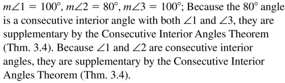 Big Ideas Math Answers Geometry Chapter 3 Parallel and Perpendicular Lines 3.2 a 11