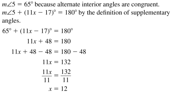 Big Ideas Math Answers Geometry Chapter 3 Parallel and Perpendicular Lines 3.2 a 9