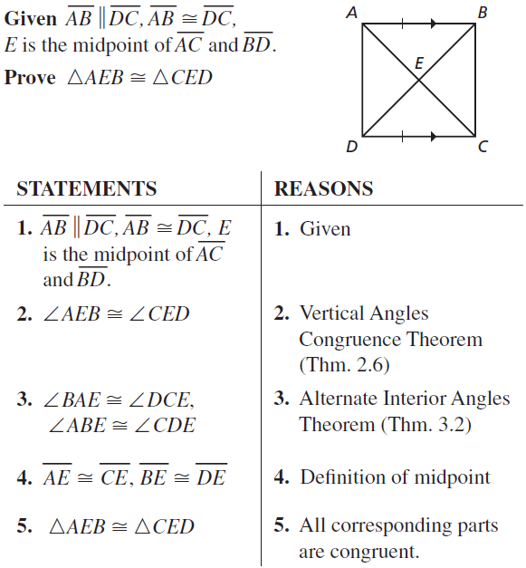 Big Ideas Math Answers Geometry Chapter 5 Congruent Triangles 5.2 a 15