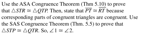 Big Ideas Math Answers Geometry Chapter 5 Congruent Triangles 5.7 a 11