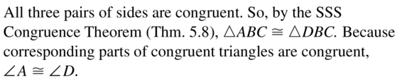Big Ideas Math Answers Geometry Chapter 5 Congruent Triangles 5.7 a 3