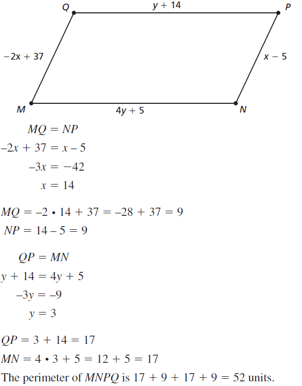 Big Ideas Math Answers Geometry Chapter 7 Quadrilaterals and Other Polygons 7.2 a 39