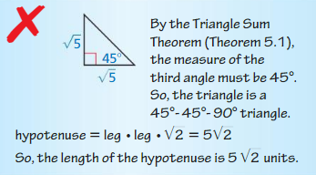 Big Ideas Math Answers Geometry Chapter 9 Right Triangles and Trigonometry 52