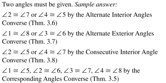 Big Ideas Math Geometry Answer Key Chapter 3 Parallel and Perpendicular Lines 3.3 a 31