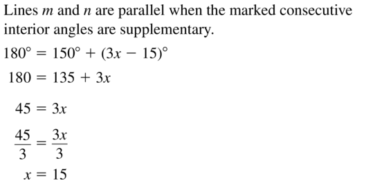 Big Ideas Math Geometry Answer Key Chapter 3 Parallel and Perpendicular Lines 3.3 a 5