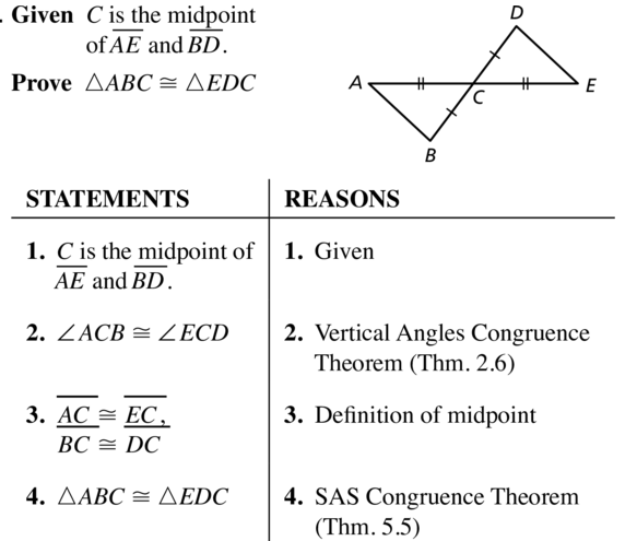 Big Ideas Math Geometry Answer Key Chapter 5 Congruent Triangles 5.3 a 17