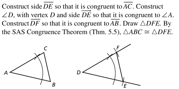 Big Ideas Math Geometry Answer Key Chapter 5 Congruent Triangles 5.3 a 23