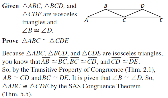 Big Ideas Math Geometry Answer Key Chapter 5 Congruent Triangles 5.3 a 27