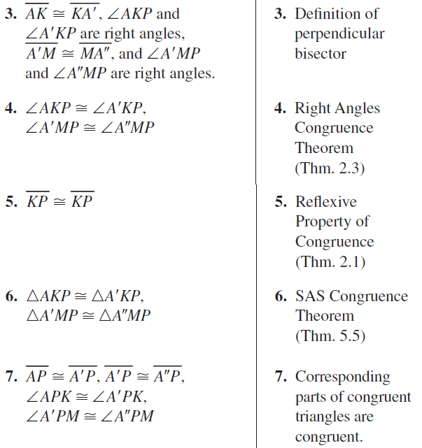 Big Ideas Math Geometry Answer Key Chapter 5 Congruent Triangles 5.3 a 31.2