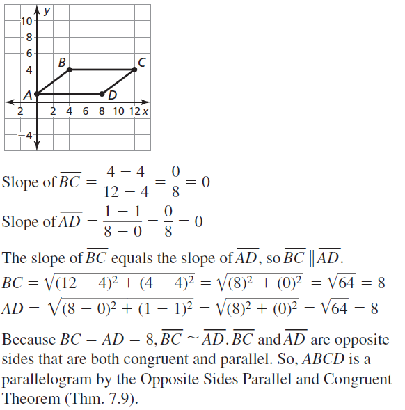 Big Ideas Math Geometry Answer Key Chapter 7 Quadrilaterals and Other Polygons 7.3 a 17