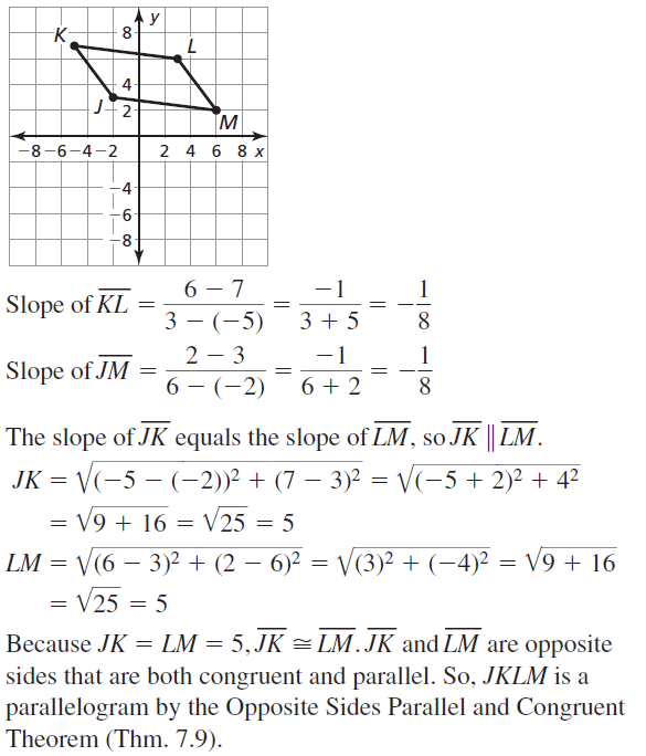 Big Ideas Math Geometry Answer Key Chapter 7 Quadrilaterals and Other Polygons 7.3 a 19