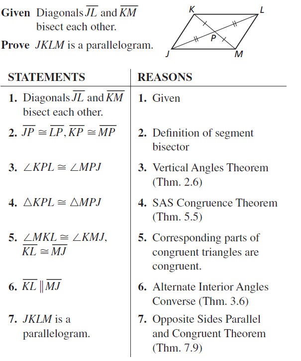 Big Ideas Math Geometry Answer Key Chapter 7 Quadrilaterals and Other Polygons 7.3 a 41