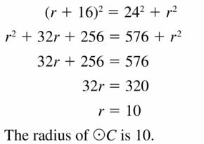Big Ideas Math Geometry Answers Chapter 10 Circles 10.1 Ans 23