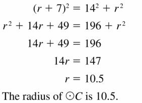 Big Ideas Math Geometry Answers Chapter 10 Circles 10.1 Ans 25