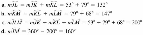 Big Ideas Math Geometry Answers Chapter 10 Circles 10.2 Ans 15