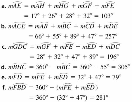 Big Ideas Math Geometry Answers Chapter 10 Circles 10.2 Ans 17
