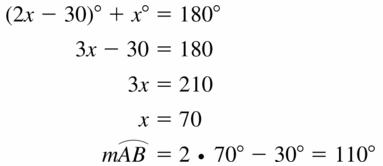 Big Ideas Math Geometry Answers Chapter 10 Circles 10.2 Ans 23