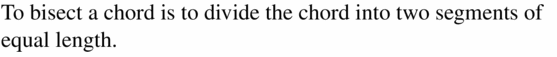 Big Ideas Math Geometry Answers Chapter 10 Circles 10.3 Ans 1