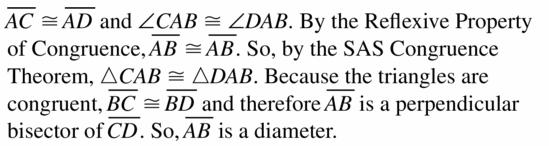 Big Ideas Math Geometry Answers Chapter 10 Circles 10.3 Ans 13