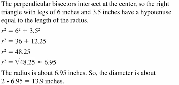 Big Ideas Math Geometry Answers Chapter 10 Circles 10.3 Ans 17