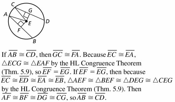Big Ideas Math Geometry Answers Chapter 10 Circles 10.3 Ans 25