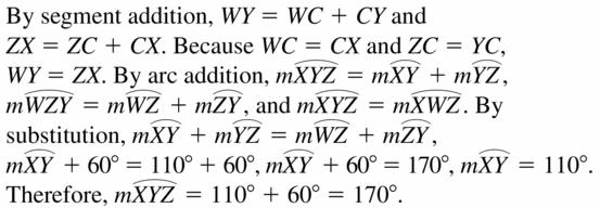 Big Ideas Math Geometry Answers Chapter 10 Circles 10.3 Ans 5