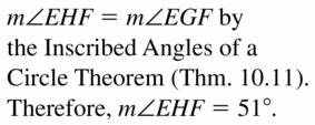 Big Ideas Math Geometry Answers Chapter 10 Circles 10.4 Ans 11