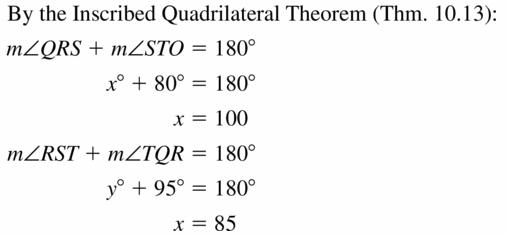 Big Ideas Math Geometry Answers Chapter 10 Circles 10.4 Ans 13