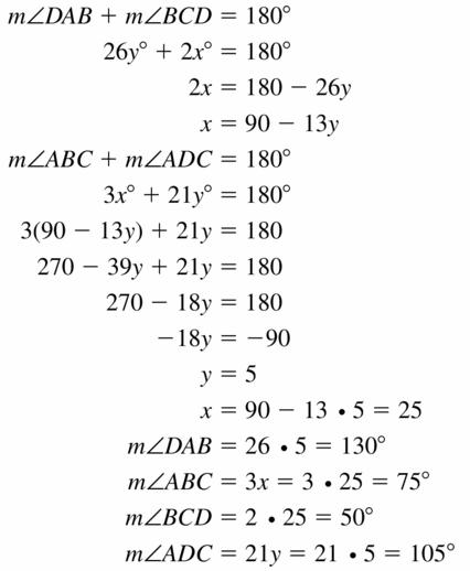 Big Ideas Math Geometry Answers Chapter 10 Circles 10.4 Ans 19