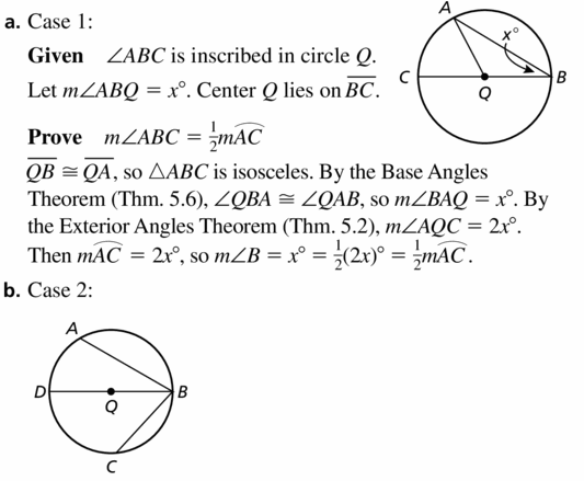 Big Ideas Math Geometry Answers Chapter 10 Circles 10.4 Ans 37.1