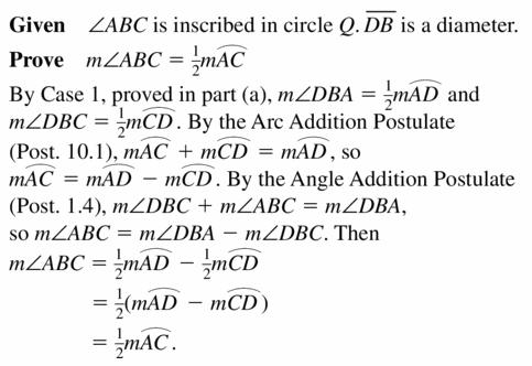 Big Ideas Math Geometry Answers Chapter 10 Circles 10.4 Ans 37.3
