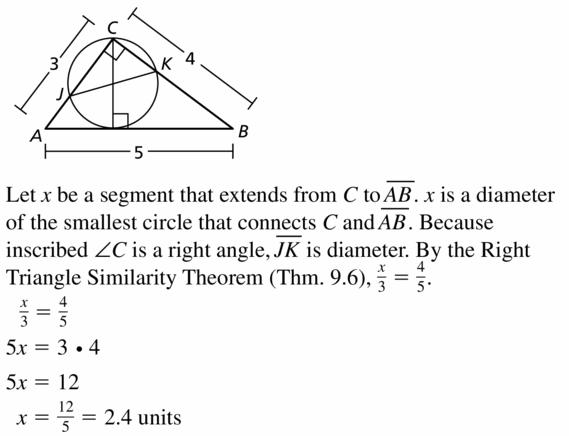 Big Ideas Math Geometry Answers Chapter 10 Circles 10.4 Ans 41