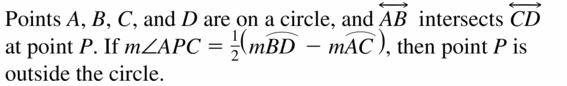 Big Ideas Math Geometry Answers Chapter 10 Circles 10.5 Ans 1