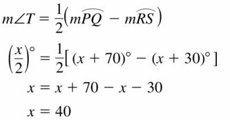 Big Ideas Math Geometry Answers Chapter 10 Circles 10.5 Ans 11