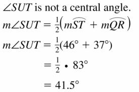 Big Ideas Math Geometry Answers Chapter 10 Circles 10.5 Ans 15